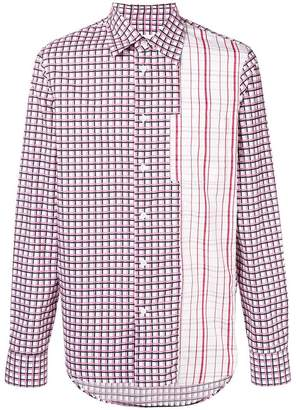 Marni contrast checked shirt