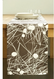 Amenity Tabletop Trail Table Runner - Cream And Cocoa
