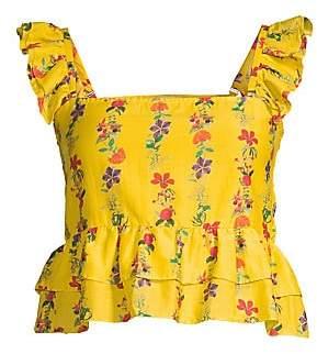 Carolina K. Women's Layla Ruffle Crop Top