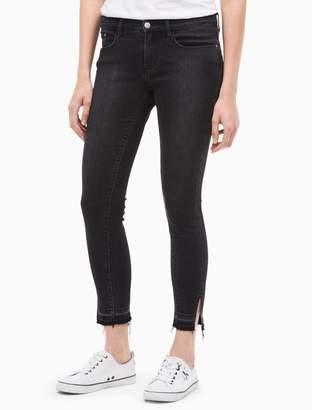 Calvin Klein ultimate skinny faded black ankle jeans