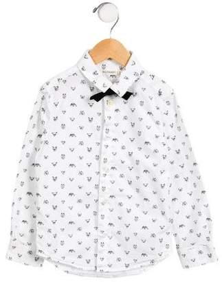 Billybandit Boys' Dog Print Button-Up Shirt