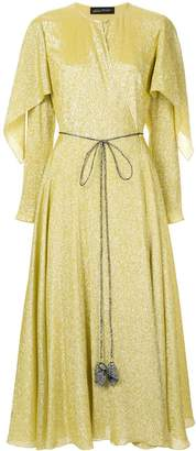 Anna October cape wrap dress