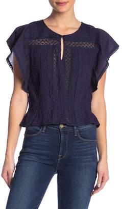 Banjara Ruffled Cap Sleeve Lace Top