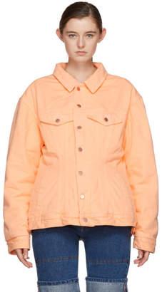 Martine Rose Pink Darted Denim Jacket