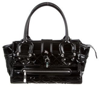 Burberry Burberry Quilted Patent Leather Manor Bag