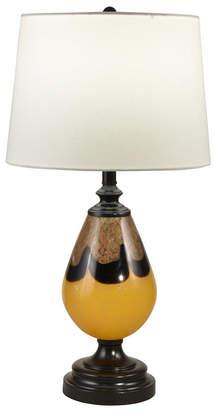 Dale Tiffany Keithia Hand Blown Art Glass Table Lamp