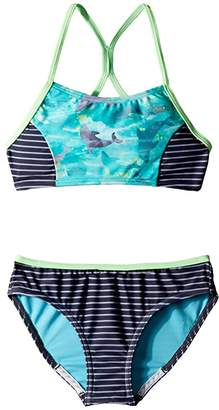 Speedo Kids Diamond Geo Splice Two-Piece Swimsuit (Big Kids)