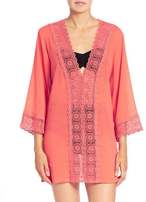La Blanca Island Fare Cotton Tunic $99 thestylecure.com
