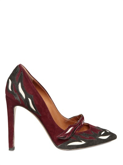 Isabel Marant 120mm Embroidered Suede Pumps