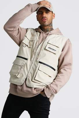 boohoo MAN Utility Vest With Multi Pockets