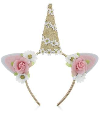 Capelli Girls' Floral Unicorn Headband