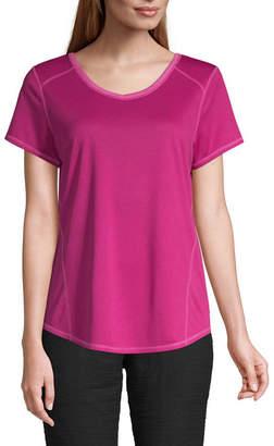 ST. JOHN'S BAY SJB ACTIVE Active Quick Dry-Womens V Neck Short Sleeve T-Shirt