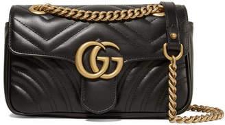 32969d8d99e Gucci Gg Marmont Quilted Leather Shoulder Bag - Black