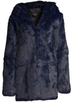 RtA Henri Hooded Rabbit Fur Jacket
