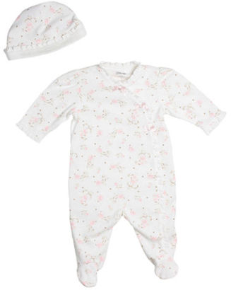 Little Me Newborn Girls 0-9 Months Ruffled Footie Coveralls with Hat - Smart Value $11.95 thestylecure.com