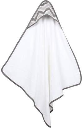 Bacati MixNMatch Zigzag Hooded Towel 100% Cotton, Grey