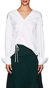 Teija Women's Cinch Cotton Poplin Blouse - White