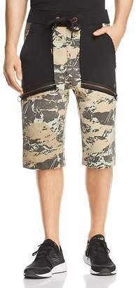 True Religion Camouflage Blocked Sweat Shorts