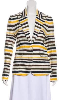 Dolce & Gabbana Stripe Linen Blazer