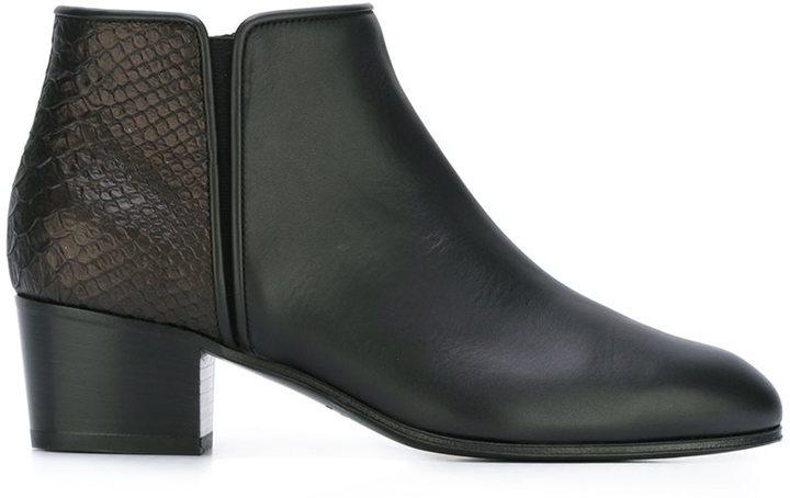 Giuseppe Zanotti Design two tone ankle boots