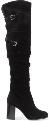 Sam Edelman - Sable Suede Knee Boots - Black $250 thestylecure.com