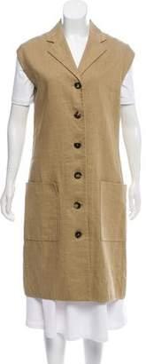 Celine Linen-Blend Longline Vest