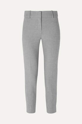 J.Crew Cameron Cropped Cady Tapered Pants - Gray