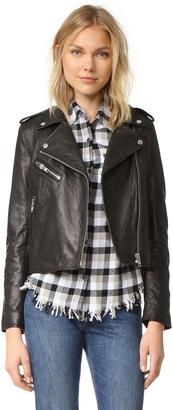 Current/Elliott The Roadside Leather Jacket $998 thestylecure.com