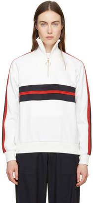 Harmony White Sidonie Zip-Up Sweater