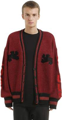 Yeezy Graphic Wool Knit Long Cardigan