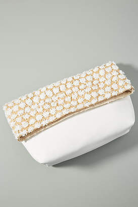 Anthropologie Jackie Raffia Foldover Clutch