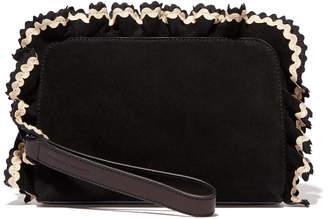 Loeffler Randall Attache Ruffle Clutch Handbag