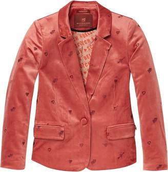 Scotch & Soda Embroidered Velvet Blazer