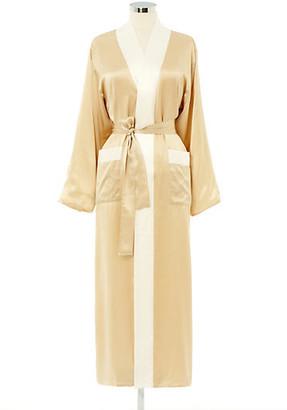 Kumi Kookoon Reversible Long Robe - Ivory/White