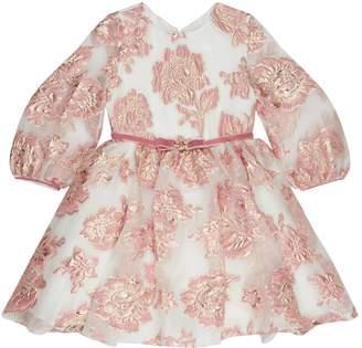 David Charles Bow Brocade Dress