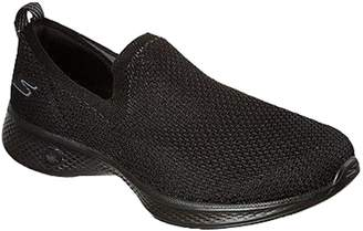 82cc0ba73d60 Skechers Go Walk 4 Seamless Flat Knit Slip On Shoes - Black