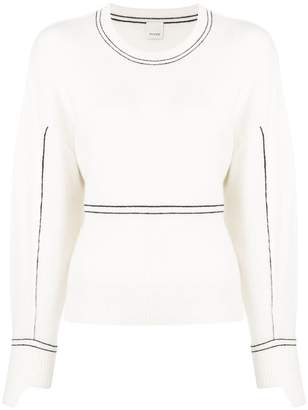 Pinko round neck fitted sweater