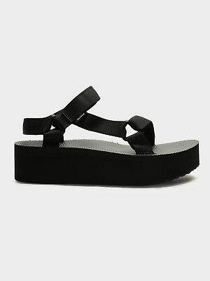 Teva New Womens Flatform Universal Sandals In Black Womens