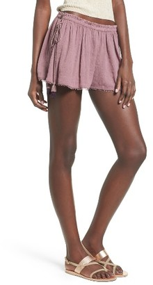 Women's Sun & Shadow Lace-Up Shorts $49 thestylecure.com