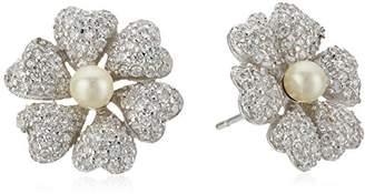 Nina Spring 17 Pearl Flower Stud Earrings