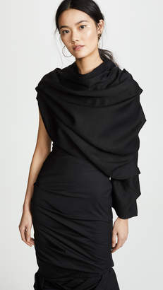 Awake One Sleeve Draped Blouse