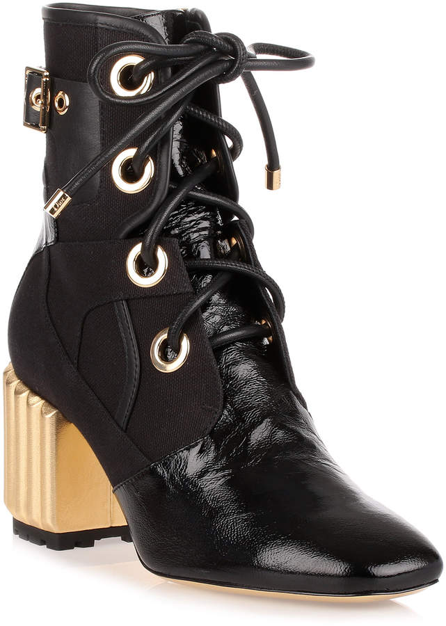 Dior Glorious Black leather ankle boot