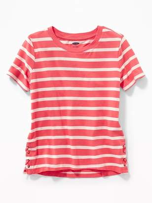 Old Navy Side Lace-Up Tee for Girls