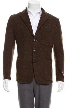 Barena Venezia Wool Notched Lapel Cardigan