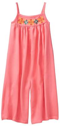 Crazy 8 Embroidered Culotte Jumpsuit