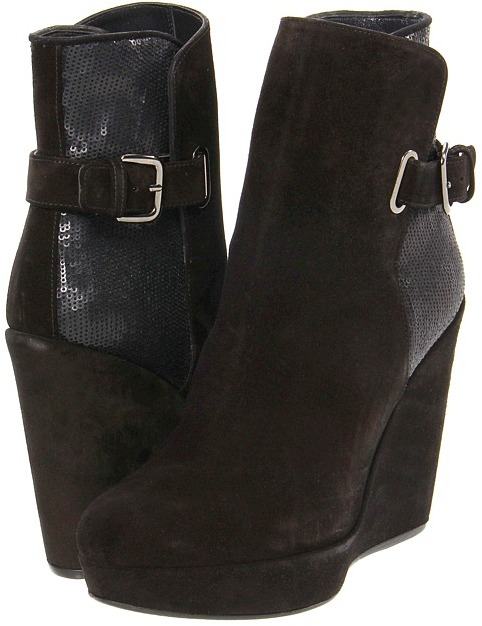 Stuart Weitzman for The Cool People - Paragraph (Nero Velour) - Footwear