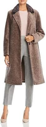 Maximilian Furs Mink Fur Collar Lamb Shearling Coat - 100% Exclusive