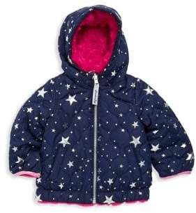 London Fog Baby Girl's Reversible Hooded Jacket