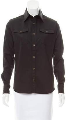 Tomas Maier Long Sleeve Button-Up Top