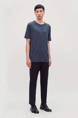 Cos SILK-LINEN ROUND-NECK T-SHIRT